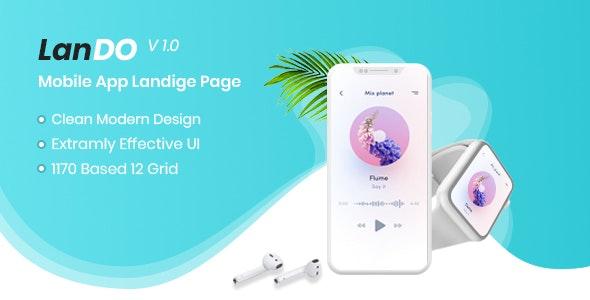 Lando - Software, App & Product Showcase Landing PSD Design - Software Technology
