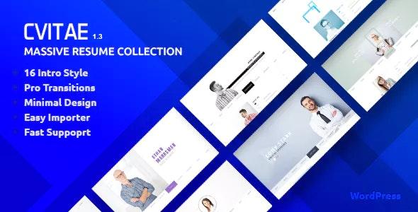 CVitae - Premium Responsive WordPress Resume - Portfolio Creative