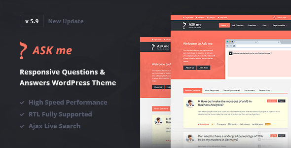 Ask Me - Responsive Questions & Answers WordPress - Miscellaneous WordPress