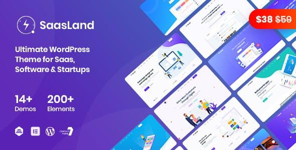 SaasLand - MultiPurpose WordPress Theme for Saas Startup Software Business