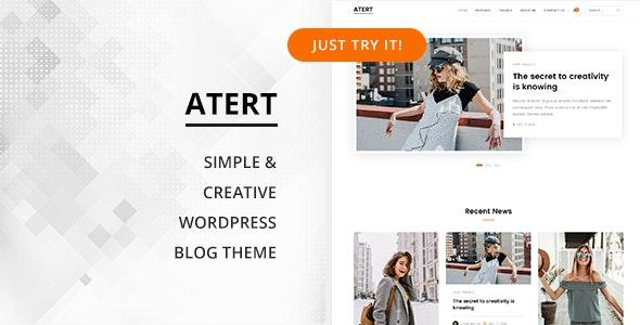 Atert - Simple & Creative WordPress Blog Theme - Personal Blog / Magazine