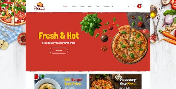Foodo - Fast Food Restaurant WordPress Theme