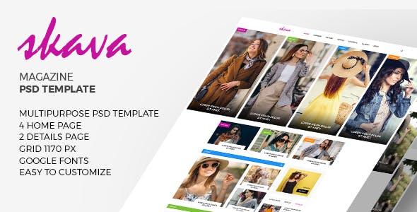 Skava - Multi-Purpose Magazine Blog PSD Template