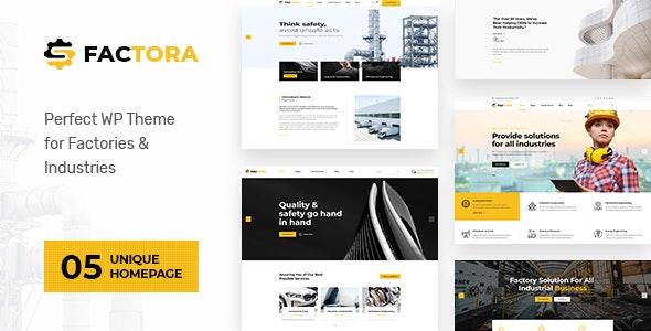 Factora - Factory, Industry Business WordPress Theme - Business Corporate