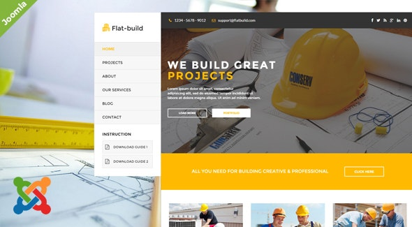 Flatbuild - Construction Joomla Template - Business Corporate