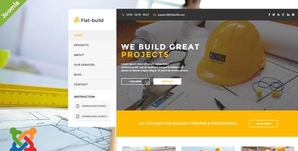 Flatbuild - Construction Joomla Template