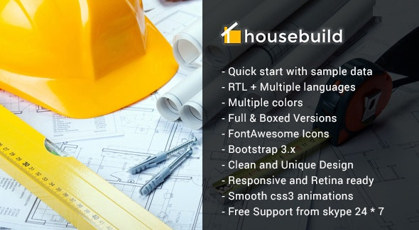 Housebuild - Joomla Construction Business Theme - Business Corporate
