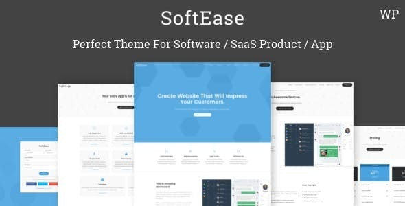 SoftEase - Multipurpose Software / SaaS Product WordPress Theme - Software Technology