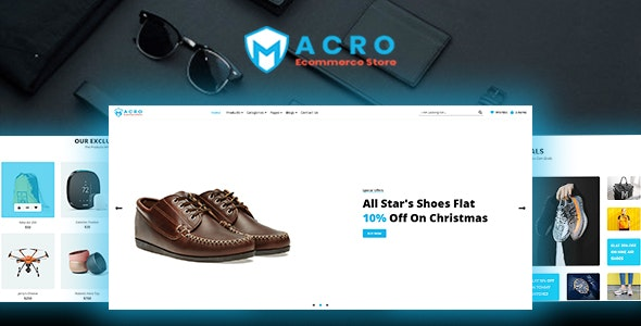 Macro - Ecommerce Multistore HTML Template - Retail Site Templates