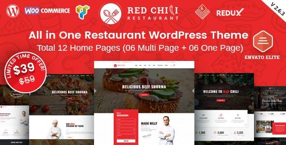 RedChili - Restaurant WordPress Theme for Restaurant, Food & Cafe