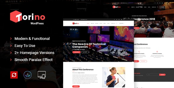 Torino - Event WordPress Theme - Events Entertainment