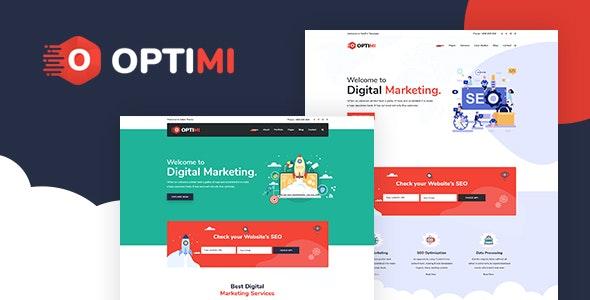 Optimi - SEO & Digital Marketing Agency HTML Template - Marketing Corporate