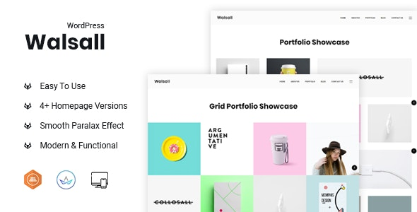 Walsall - Minimal Agency WordPress Theme - Portfolio Creative