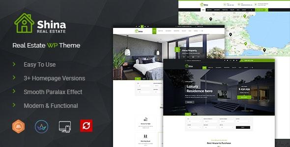 Shina - Real State Property WordPress Theme - Real Estate WordPress