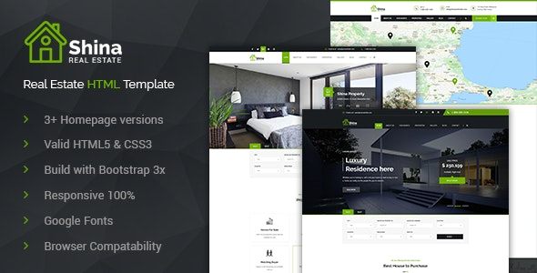 Shina - Property Sale and Rent HTML Template - Business Corporate