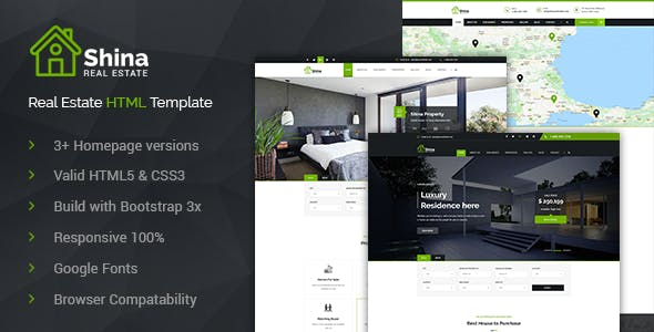 Shina - Property Sale and Rent HTML Template