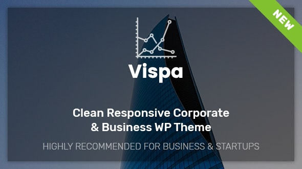 Vispa for Startups - Responsive Business WordPress Theme - Business Corporate