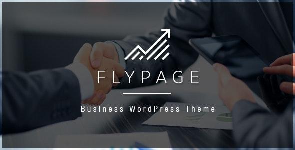 FlyPage - Minimalist Landing Page WordPress Theme - Business Corporate