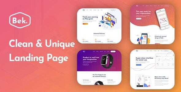 Bek - Sass & App Landing PSD Template - Software Technology
