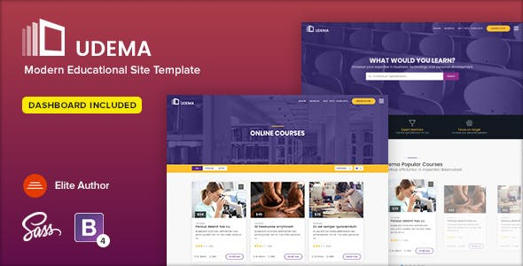 Udema Modern Educational Site Template By Ansonika Themeforest
