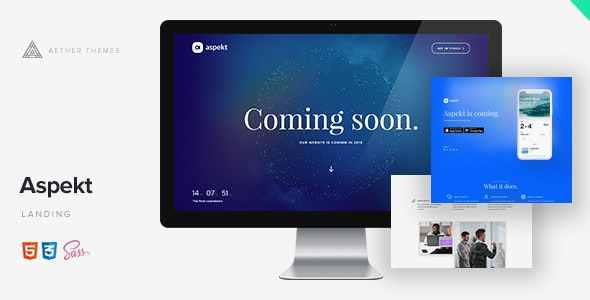 Aspekt - Creative Launching Page - Under Construction Specialty Pages