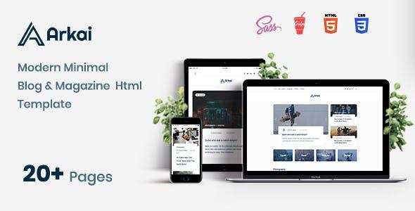 Arkai - Responsive Blog and Portfolio HTML Template