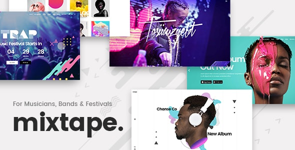 Mixtape - Music Theme for Artists & Festivals - Music and Bands Entertainment