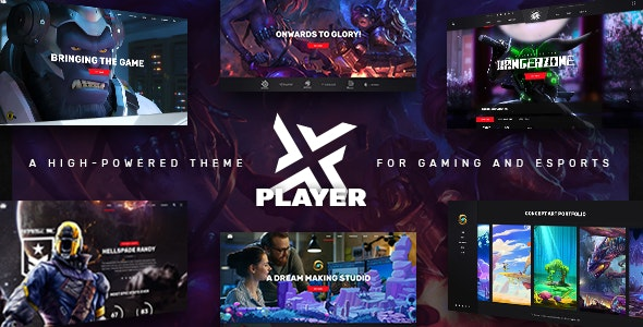 PlayerX – A High-powered Theme for Gaming and eSports