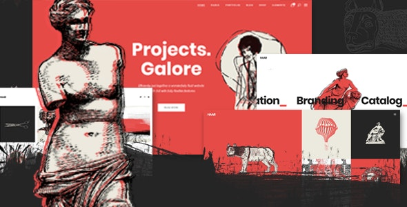 Haar - Portfolio Theme for Designers, Artists and Illustrators - Portfolio Creative