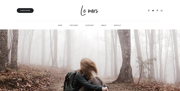 LeMars - Personal Blog Bootstrap 4 Template With PSD Files