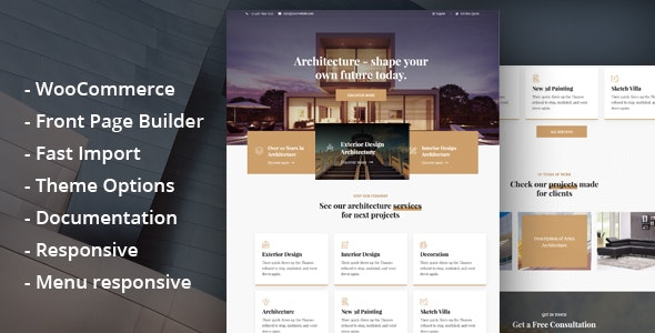 Glauss - Architecture & Creative Design WordPress Theme - Business Corporate