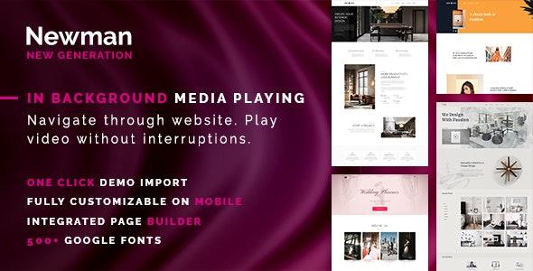 Newman - Portfolio, Video and Blog WordPress Theme - Creative WordPress