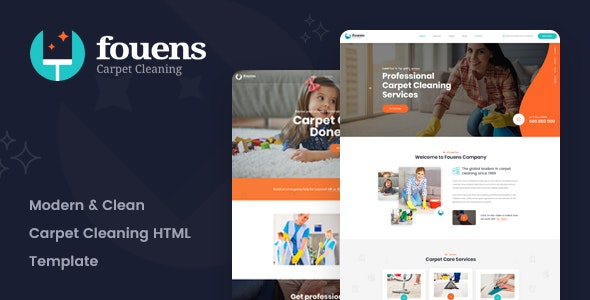 Fouens - Carpet Cleaning Company HTML Template - Business Corporate
