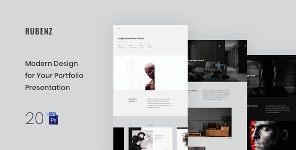 Rubenz – Creative Portfolio Showcase PSD Template - Portfolio Creative