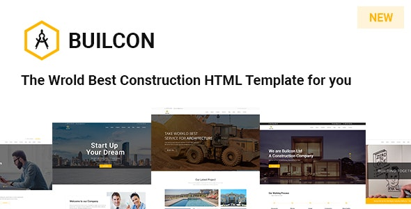 Builcon - Responsive Construction HTML Template - Business Corporate