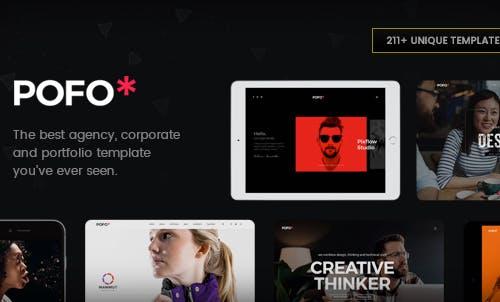 Pofo Creative Agency, Corporate and Portfolio Multi-purpose Template