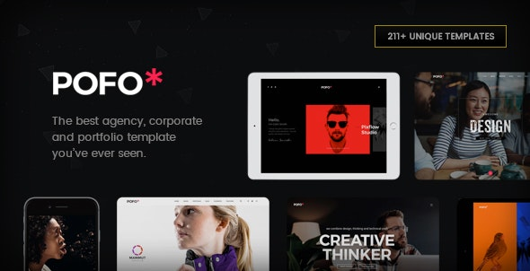Pofo - Creative Agency, Corporate and Portfolio Multi-purpose Template - Portfolio Creative