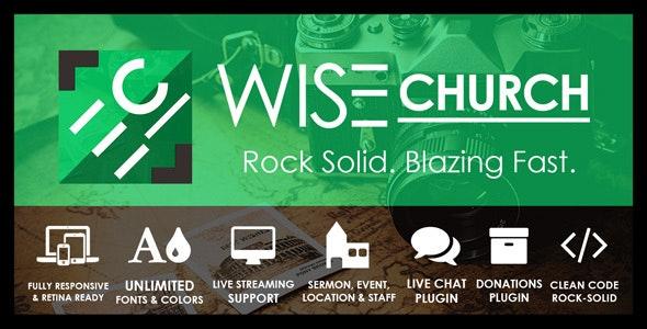Wise Church – The Wisest Multi-Purpose Church WordPress Theme - Churches Nonprofit
