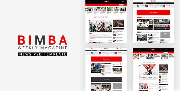 Bimba | Viral Blog & Magazine PSD Template - PSD Templates