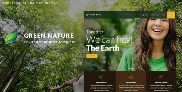 Green Nature - Environmental HTML Template - Nonprofit Site Templates