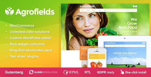 Agrofields - Food Shop & Grocery Market WP Theme - Retail WordPress