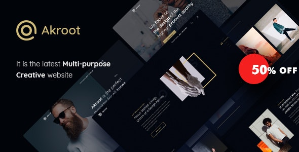 Akroot | It is the Multi-purpose Creative HTML5 Template - Creative Site Templates