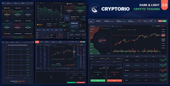 Cryptorio - Cryptocurrency Trading Dashboard UI KIT - Technology Photoshop