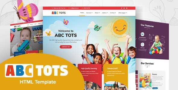 ABC Tots -  Responsive HTML5 Template - Children Retail