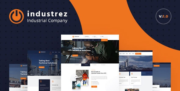 Industrez - Factory & Industrial Business HTML Template - Business Corporate