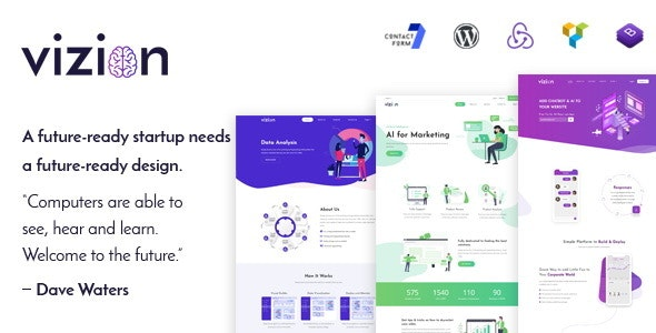 Vizion - AI Startups Responsive WordPress Theme - Technology WordPress