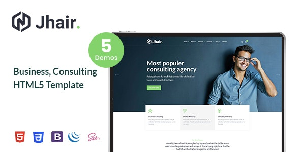 Jhair - Business, Consulting HTML5 Template - Business Corporate