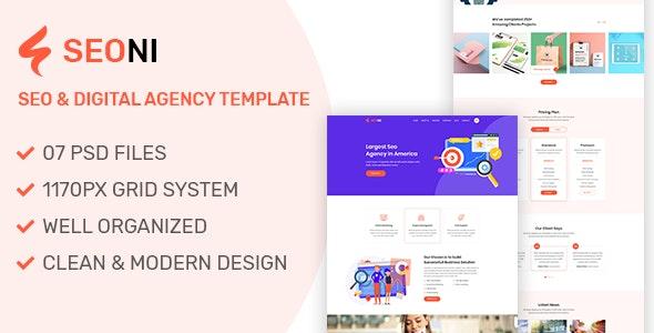 Seoni - SEO and Digital Agency HTML5 Template - Business Corporate
