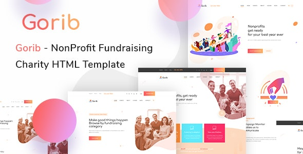 Gorib - Fundraising & Chairty HTML Template - Nonprofit Site Templates