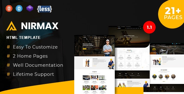 Nirmax - Industry & Factory HTML5 Template - Business Corporate